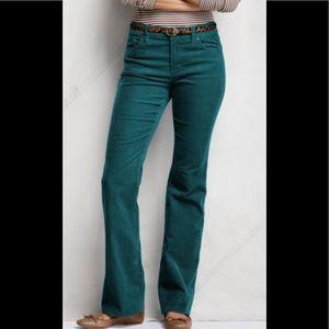 Ann Taylor Green Corduroy Pants Sz 8 NWT